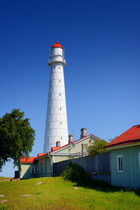White Lighthouse On The Hiumaa Island