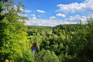 Amata River Valley In Gauja National Park