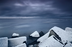 Baltic Sea In Winter In Dramatic Mood