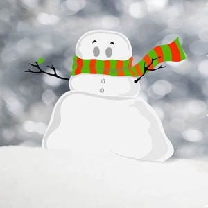 Creative snowman on stylish grey background for Merry Christmas celebration.