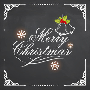 Elegant greeting card design with stylish text Merry Christmas