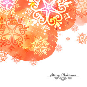 Creative greeting card decorated with beautiful floral design for Merry Christmas celebration.