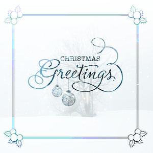Beautiful greeting card design with creative winter background for Merry Christmas celebration.