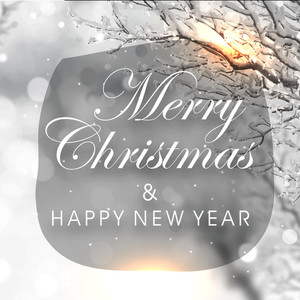 メリークリスマスとハッピーニューイヤーのお祝いのための創造的な冬の背景を持つエレガントなグリーティングカードのデザイン。