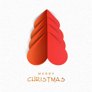 Creative Xmas Tree design on stylish background for Merry Christmas celebration.