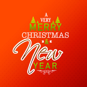 Elegant shiny greeting card design for Merry Christmas and Happy New Year celebration.