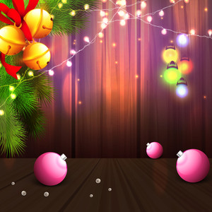 Merry Christmas celebration with glossy Xmas Balls