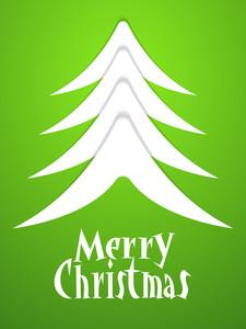 Creative glossy Xmas Tree decorated Flyer