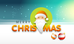 Beautiful poster of Merry Christmas with face of Santa Claus