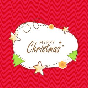 Kiddish poster for Merry Christmas on stylish background.