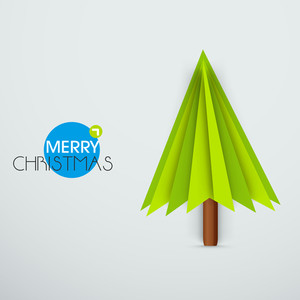 Christmas celebration with stylish wishing text and design of holly tree.