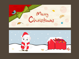 Website header or banner for Merry Christmas celebration.