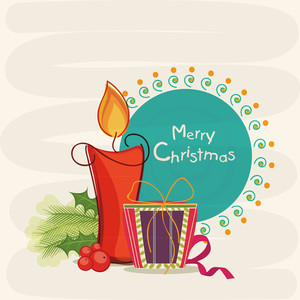 Merry Christmas celebrations greeting card design decorated with stylish text