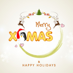 Merry Christmas and Happy Holidays celebrations with stylish text