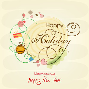 Creative greeting card design for Happy Holidays