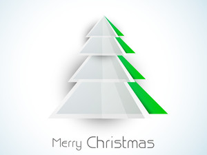 Christmas festival celebration with holly tree design and stylish text of Merry Christmas.