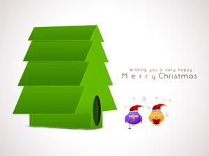 Christmas festival celebration with a hut