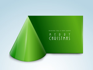 Poster for celebrating Christmas Day with stylish text on green stripe.