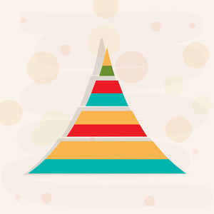 Colorful design of christmas tree with shadow on stylish background.