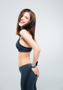 Smiling pretty fitness woman