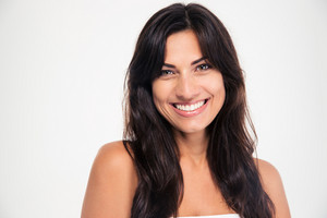 Beauty portrait of a smiling woman