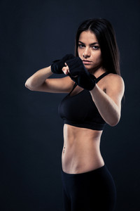 Fitness woman ready to fight
