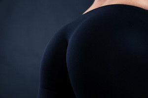 Closeup portrait of a fitness female buttocks