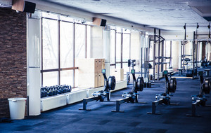 Closeup image of gym interior