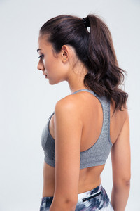 Side view portrait of a fitness woman