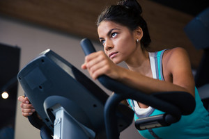 Woman workout in fitness gym