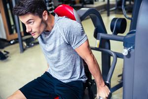 Man workout in gym