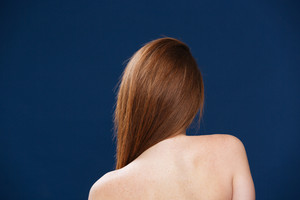 Back view portrait of a woman