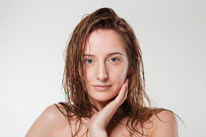 Charming woman with fresh skin