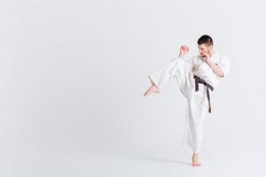 Male fighter in kimono