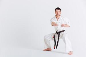 Man in kimono fighting