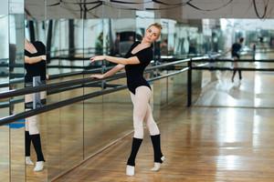 Ballerina dancing in ballet class