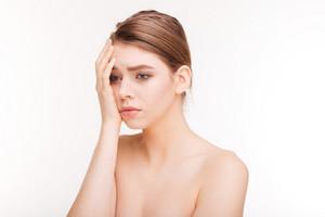 Beauty portrait of a sad woman