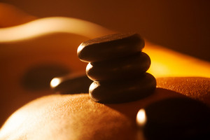 Hot stone treatment in day spa