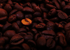 Coffee beans background