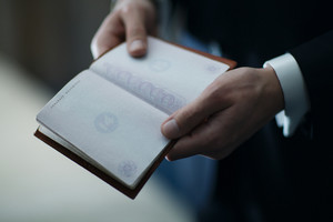 Empty passport before the wedding