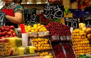 바르셀로나에서 과일 시장