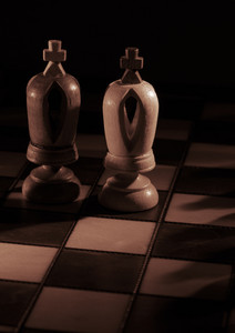 White and black kings on the chessboard