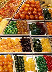 Assorted candy in a market