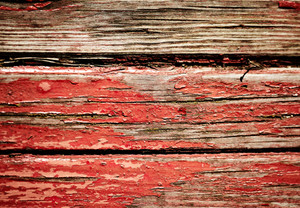 Red dirty wooden wall