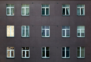 Exterior of an apartment or office block