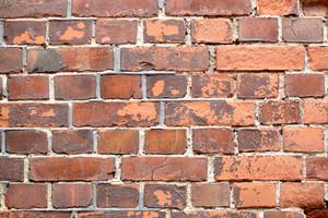 Macro shot of the red brick wall