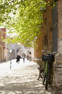 Street in tallinn at spring