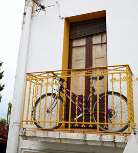 Bike on the balcony