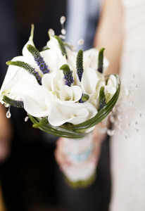Wedding bouquet of white flowers