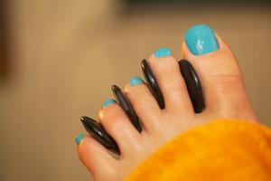 Spa feet treatment with massage stones